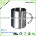 durável e reutilizável comestível aço inoxidável canecas de café cappuccino copos para cerveja ou chá