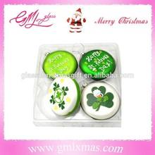 luxury flat ball glass craft,delicate glass flat ball ornaments,beautiful flat ball christmas ornament