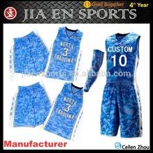 Custom digital best basketball uniform sublimated camo basketball uniform design