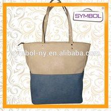 Fashionable discount fashion pu leather shopping lady bag