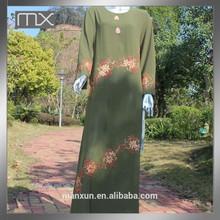 designer islamischen bestickt abaya langen Ärmeln kleid marokkanischen kaftan arabisch dubai muslimische frauen kleiden