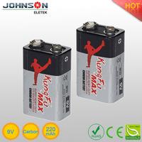 hot sale bateria auto 9v 6f22 zinc carbon battery high quality batteries