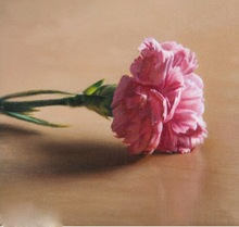 Carnation flower oil panting handmade art