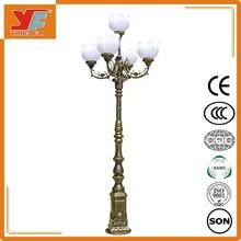 Iron/Q235steel antique cast iron lamp post