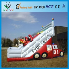 Good Quality Inflatable Dry Fire Truck Slide Inflatable Fire Truck Slide