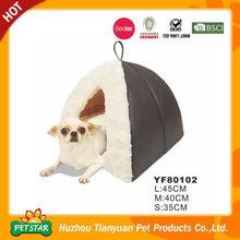 Discount!!! 2015 New Arrival PU Leather Fabric Warm Plush Fur High Quality New Soft Foam Pet House