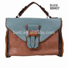 Hot selling european brand YKK zipper white metal women buy handbags direct from China