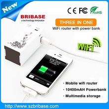 Professional Multi-function Mini 3g wifi Router/Repeater/Access Point/Client/Bridge/10400mah Power Bank/Storage Sharing