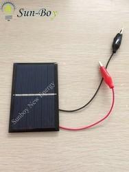 3V Solar Panel with Alligator Clip