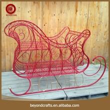 Reliable quality christmas iron decorative sleigh
