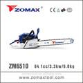 Distribuidores 64.1cc zm6510 3.3kw mano sierras de corte de árboles a gran profesional zomax motosierra/sierra cadena