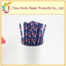 The latest design of Christmas decoration wrapped paper straws