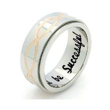 Infinity Spinner Ring, Promise Ring Infinity Symbol Ring Always Be Successful Engraved