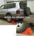 la rueda del coche de parachoques