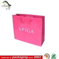 Cute Pink sample free field paper bag photograph for shopping
