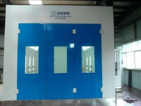 water based wood coating water curtain spray paint booth