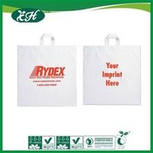 manufacturer fashionable plastic soft-loop handle carrier bags