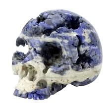 4.5 inch hand carved skull figurine home decor, bar decor, crystal healing