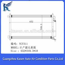 ac condenser parallel flow for original Nissan tiida C11 car air conditioner