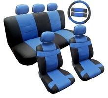 Cheap14 Piece Luxury Two Tone PU Synthetic Leather Car Seat Cover Set