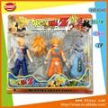 3 pcs dragon ball z figura de ação brinquedos, brinquedo dos desenhos animados