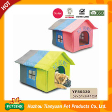 Sale!!! 2015 New Arrival Color Summer Use High Quality Waterproof Straw Fabric Cardboard Pet House