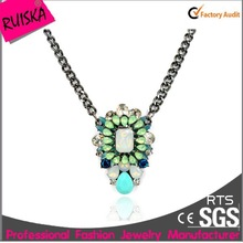 Colorful Costume Jewelry,Rhinestone Fashion Necklace, 2015 Pendant Necklace