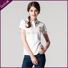 Women Fashionable polo t-shirt, woman summer cotton POLO t-shirt,embroidered logo polo shirt