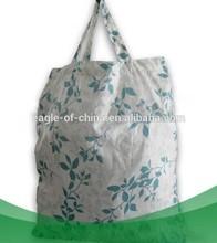 foldable flower printing shopping bag