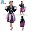 halloween meninas preto e rosa vestido de baile