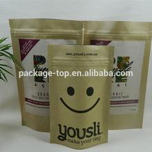 professional brown kraft food paper bag for t-shirt packing