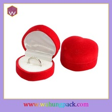 custom indian red wedding favor flock ring boxes wholesale