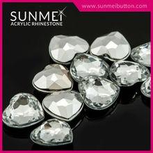 Glitter Wholesale Heart Shape Point Back Crystal Rhinestone