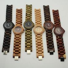2015 New Japan Movement waterproof Natural digital wood watch