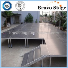 Aluminum frame event stage for DJ outdoor equipment
