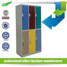 Colorful top quality modern design 6 door customized ikea metal locker cabinet