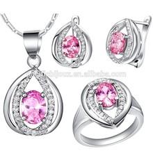 zirconia joyeria cluster micro pave jewellery
