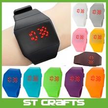 Magic Hidden Touch Screen Red LED Digital Watch Men Women Sport Cuff Wrist Watch assorted colours