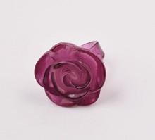 fashion flower rose plastic ring