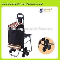 Climb the stairs folding trolley shopping bag,shopping trolley bag with chair Climb the stairs
