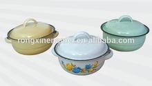 16cm Enamel apple pot, Enamel cook pot, Enamel steel casserole