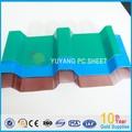 Transparente ondulado coberturas policarbonato pc painel de onda, folha de policarbonato ondulado