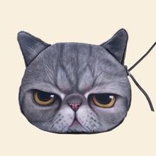 Women's Fashion Clutch Purses Coin Purse Bag Wallet Cute 3d cat Bag SV007090