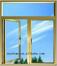 2015 thremal break popular aluminium alloy casement window made in china