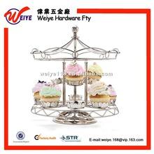 Metal Rotating Cupcake Stand hold 12Pcs