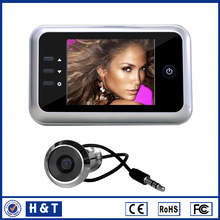 2015 hot selling digital voice recorder with remote control 3.5'' camera door peephole With Recording