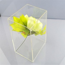 Promotional lower cost acrylic cosmetic box for retailer