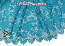 heavy guipure lace high quality african turquoise beads lace wedding dresses