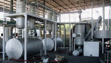 High yield waste plastic recycling plant waste oil distillation plant