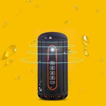 the best bass JUNEED2015 latest powerbank bluetooth speaker contation 6600mah and IPX4 for outdoor using